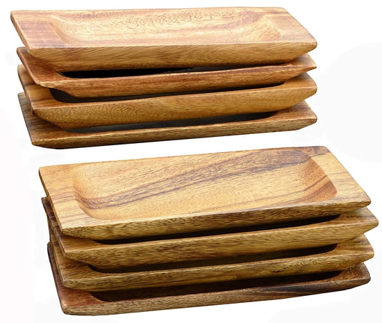 "Appetizer Serving Tray, 9"" x 4"" x 1"", Set of 8"