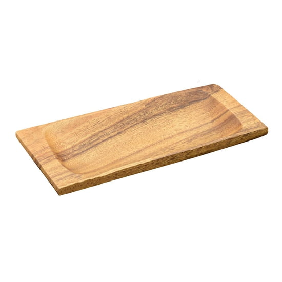 "Acacia Wood Appetizer Serving Tray, 9"" x 4"" x 1"""