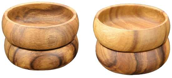 "Salad & Dipping Bowl Set, 6"" x 2"", Set of 4"