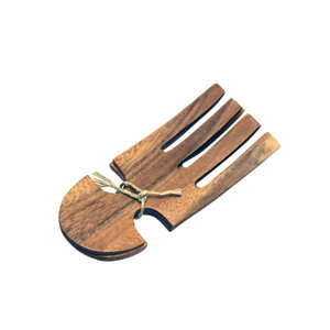 Acacia Wood Salad Serving Hands, 6.5""