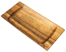 "Acacia Wood Rectangle Appetizer Tray, 10"" x 5"" x 1"""