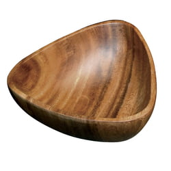 "Acacia Wood 3-Sided Salad Bowl, 12"" x 4"""