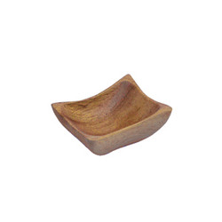 "Acacia Wood Mini Wave Bowl, 3"" x 2.5"" 1.5"""