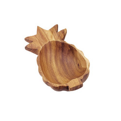 "Acacia Wood Pineapple Bowl, 10"" x 4.5"" x 2"""