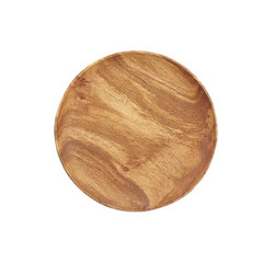 "Acacia Wood Round Plate, 10"" D x 1"""