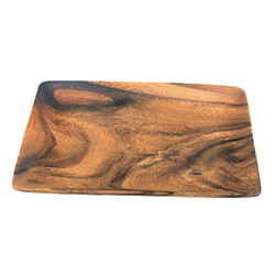 "Acacia Wood Rectangle Tray, 12.5"" x 9.5"" x 0.75"""