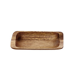 "Acacia Wood Appetizer Tray, 9"" x 4"" x 1"""