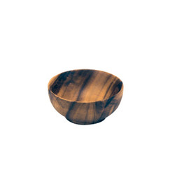 Acacia Wood 4.5 in. Round Nut & Soup Bowl