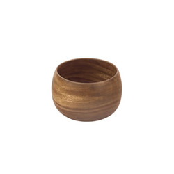 Acacia Wood 6 in. by 4 in. Deep Round Calabash Bowl