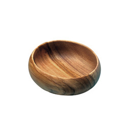 Acacia Wood 12 in. Round Calabash Bowl
