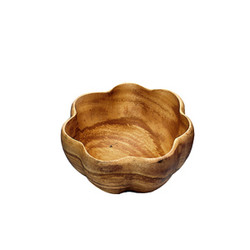 Acacia Wood 6 in. Round Flared Bowl