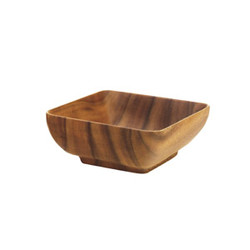 "Acacia Wood Square Salad Bowl, 10"" x 10"" x 4.5"""