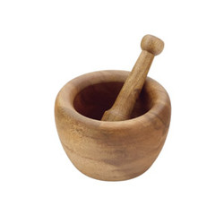 "Acacia Wood Specialty Shapes, Mortar & Pestle Acacia Wood Mortar & Pestle, 6.5"" D x 3.5"" H"