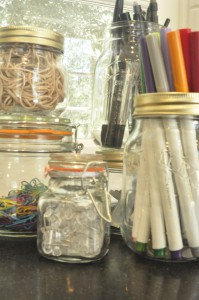 Getting organized using Kilner jars