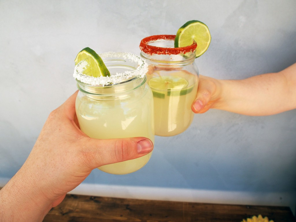 Lemon Lime Margarita in Kilner glasses