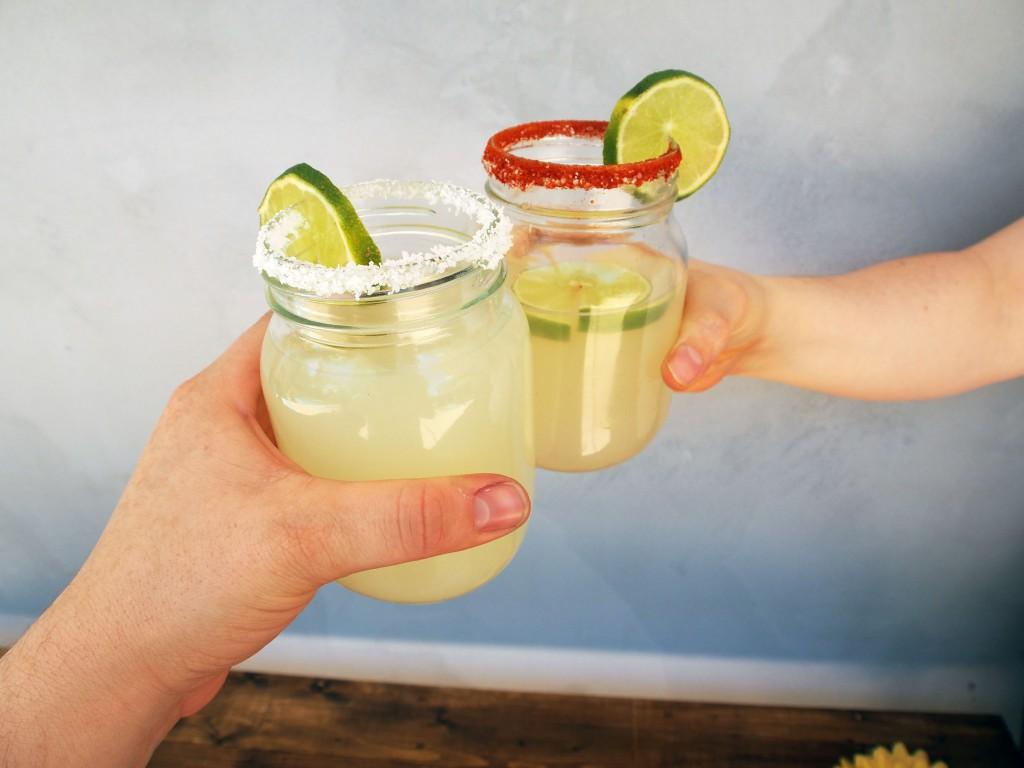 Lemon Lime Margarita in Kilner glasses