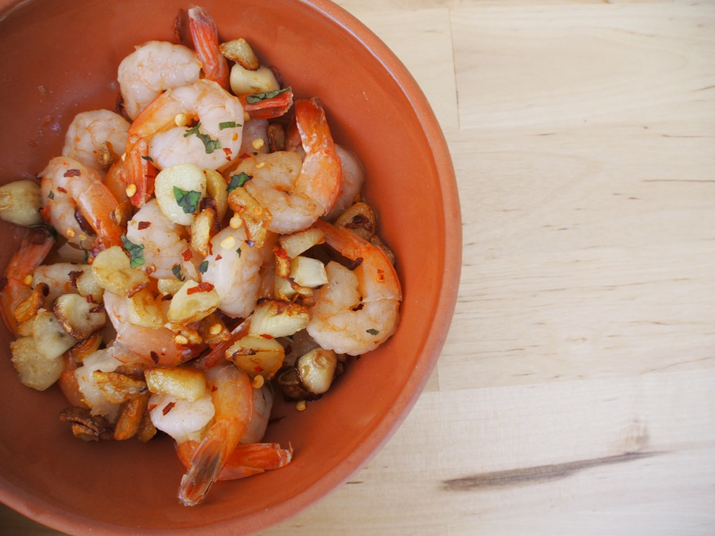Shrimp with garlic recipe