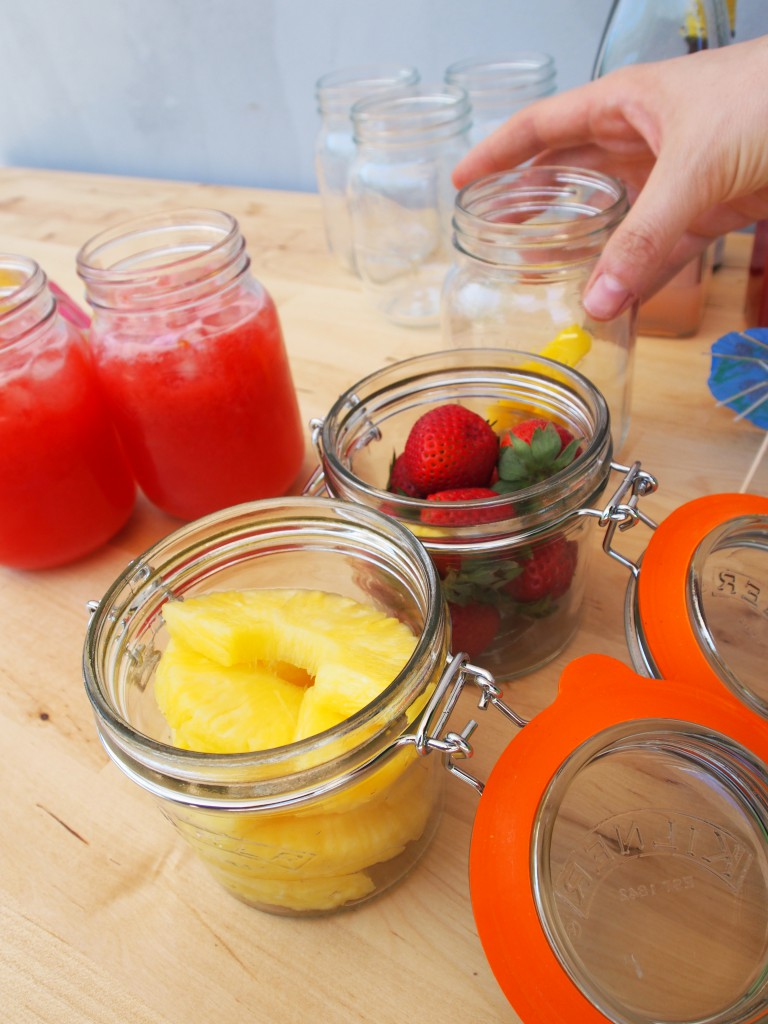 Fruit in Kilner jars - for garnish