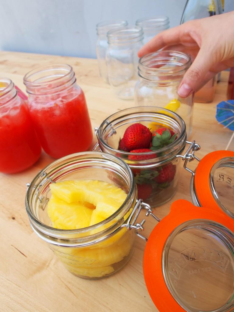Fruit in Kilner jars - for garnish