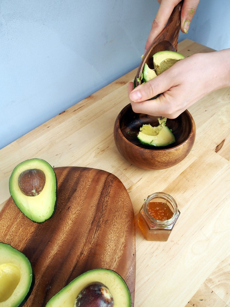 Scooping Avocado