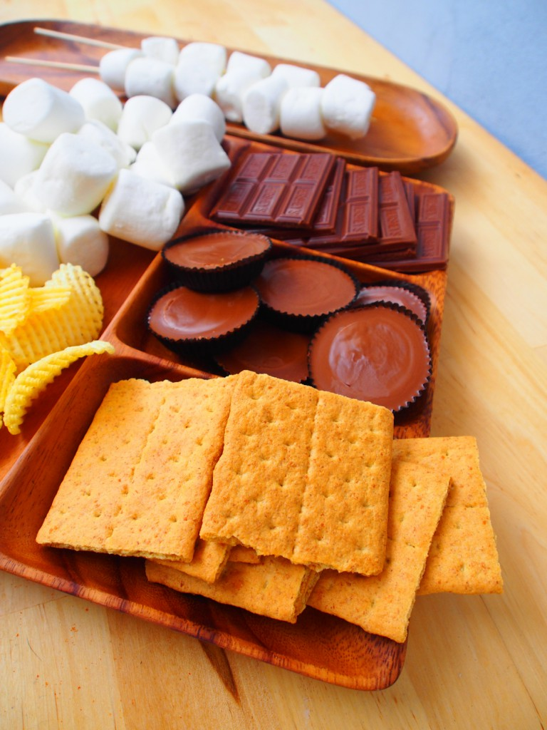 all the fixings for amazing s'mores
