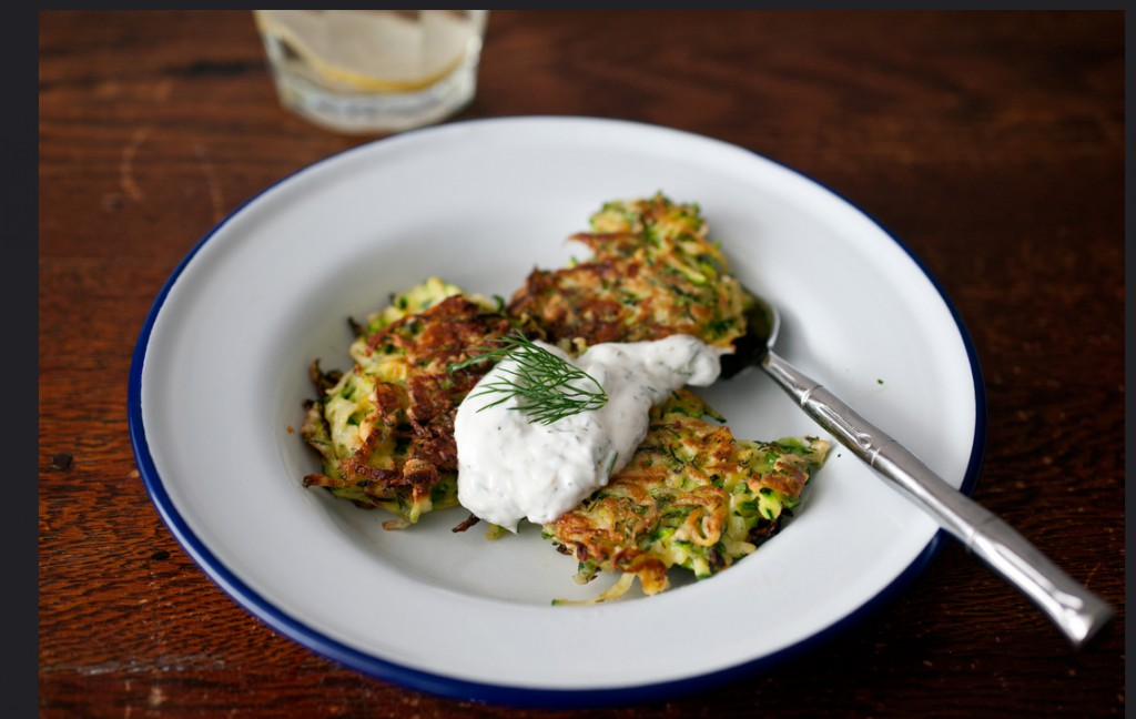 Zucchini and Green Garlic Latkes - Photo Credit: Sassy Radish
