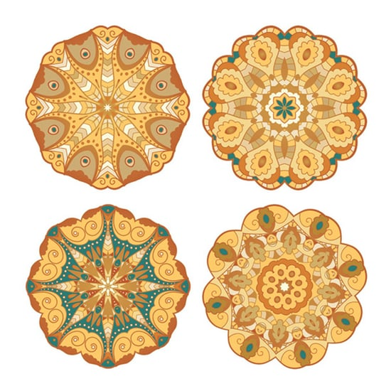 Parchment Doily, Mandala Gold Tones, 20 Sheets (Assorted)
