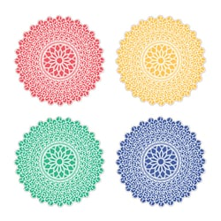 Parchment Doily, Jewel Tones, 20 Sheets (Assorted)