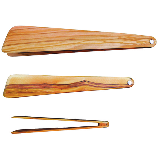Olivewood Tongs
