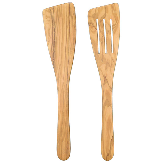 Olivewood Large Curved Spatula, 12""