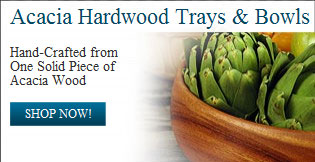 Acacia Hardwood Trays & Bowls - Shop Now