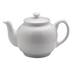 White Tea Pot 6 Cup, 40oz, Mason Cash/ Price & Kensington