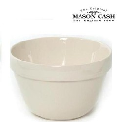 "Mason Cash White Pudding Basin, Size 24, 7.75"" x 4.25"" (2qts)"