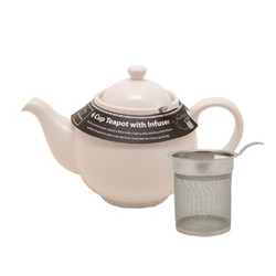 White Teapot with Filter, 40oz, Mason Cash/ Price & Kensington