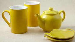 Price & Kensington Bright Yellow 5 piece Tea Set