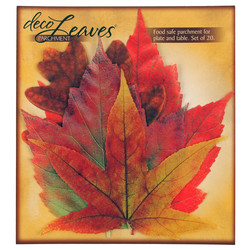 Red Tone Leaves by Deco Leaves