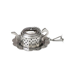 Teapot Infuser with Caddy Chrome Box