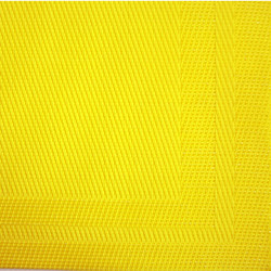 Basketweave Bright Lemon Yellow Placemat
